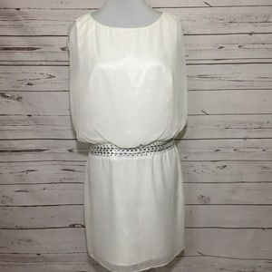 Laundry by Shelli Segal Ivory Cocktail Dress